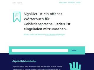SignDict - Offenes Wörterbuch für Gebärdensprache